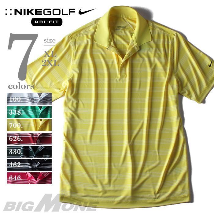 大きいサイズ メンズ NIKE GOLF ナイキ ゴルフ 半袖 ボーダー ポロシャツ DRI-FIT USA 直輸入 XL 2XL452505