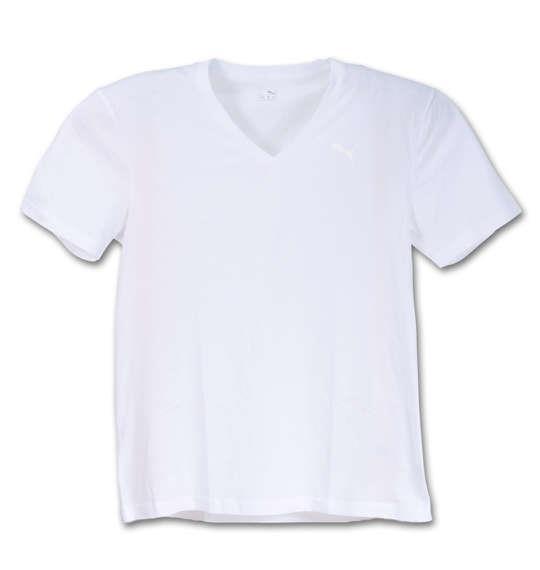 大きいサイズ メンズ PUMA 2P 抗菌防臭 半袖 Tシャツ 半袖Tシャツ Vネック ホワイト 1149-5214-1 3L 4L 5L 6L 8L