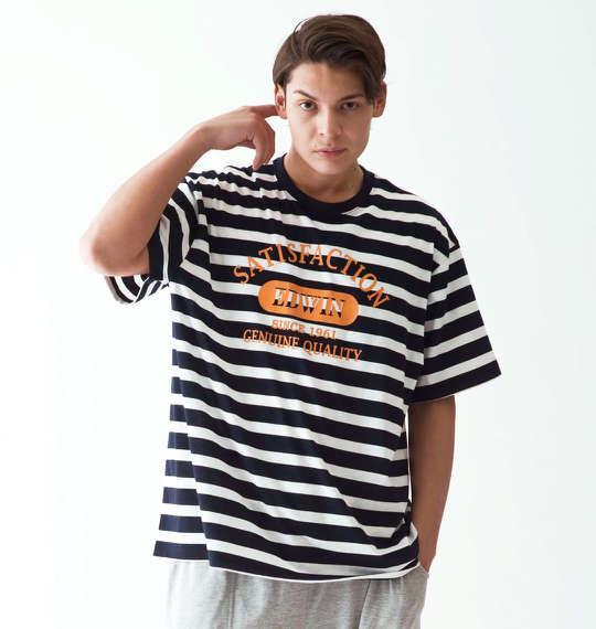 大きいサイズ メンズ EDWIN リラクシング半袖Tシャツ ネイビー 1179-5201-2 3L 4L 5L 6L 8L