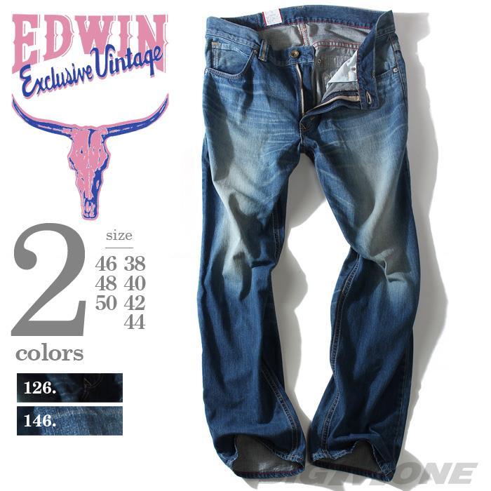 大きいサイズ メンズ EDWIN (エドウィン) ウエスタンジップストレートデニムパンツ 483xvb