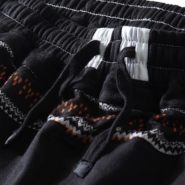 大きいサイズ メンズ DANIEL DOOD ボトムス パンツ ジャガード 切替 スウェット ショートパンツ ズボン azsp-458