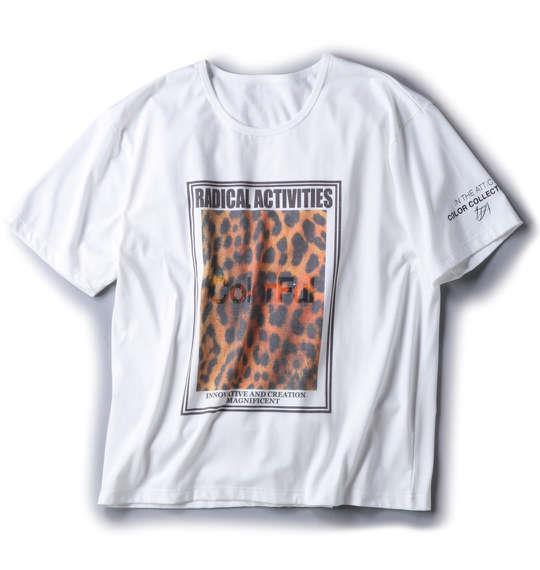 大きいサイズ メンズ in the attic 昇華転写 プリント 半袖 Tシャツ 半袖Tシャツ オフホワイト 1158-5500-1 3L 4L 5L 6L