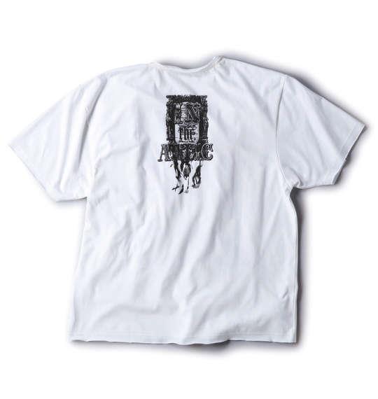 大きいサイズ メンズ in the attic 転写 プリント 半袖 Tシャツ 半袖Tシャツ オフホワイト 1158-5501-1 3L 4L 5L 6L