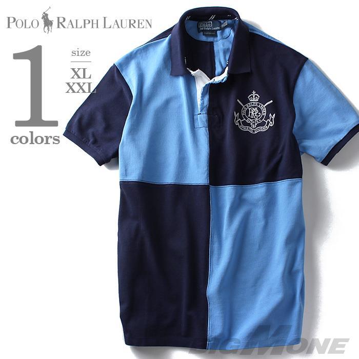 大きいサイズ メンズ POLO RALPH LAUREN ポロ ラルフローレン 刺繍入り 半袖 鹿の子 ポロシャツ USA 直輸入 k41st01-92204