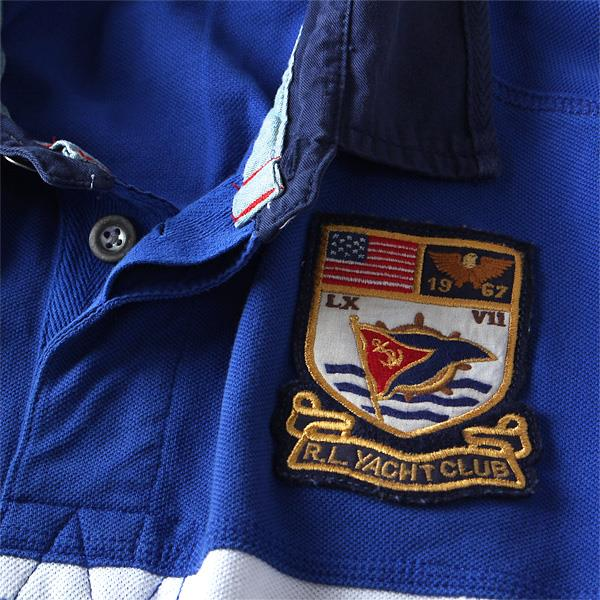大きいサイズ メンズ POLO RALPH LAUREN ポロ ラルフローレン ワッペン付 半袖 鹿の子 ポロシャツ USA 直輸入 40437001