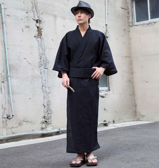 大きいサイズ メンズ 絡繰魂 龍神 刺繍 浴衣 夏 ブラック 1159-5231-1 3L 5L