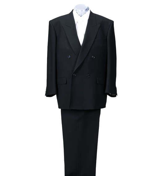 大きいサイズ メンズ 4ツ釦 1ツ掛 礼服 フォーマル ブラックフォーマル 結婚式 葬式 法事 ブラック 1172-5301-1 3L 4L 5L 6L 7L 8L
