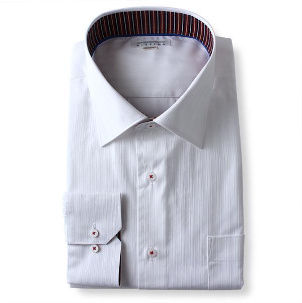 2点目半額 大きいサイズ メンズ DISFIDA 長袖 Yシャツ ビジネス 長袖 ワイシャツ レギュラーシャツ セミワイド 台衿裏パイピング 45712