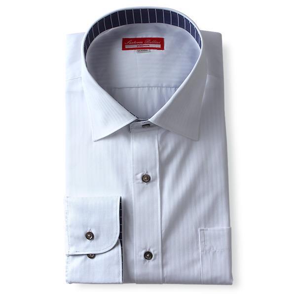 2点目半額 大きいサイズ メンズ SARTORIA BELLINI 長袖 Yシャツ ビジネス 長袖 ワイシャツ セミワイド レギュラーシャツ 45907