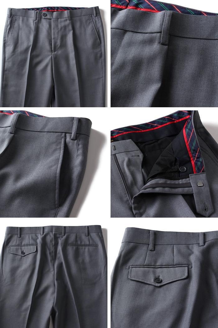 大きいサイズ メンズ DANIEL DODD ウォッシャブル ワンタック スラックス パンツ ボトムス ズボン azyp-03