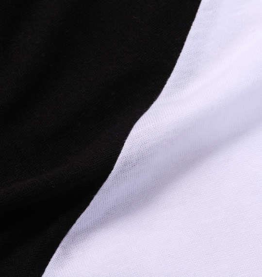大きいサイズ メンズ RIMASTER 昇華転写 プリント 長袖 ラグラン Tシャツ 長袖Tシャツ ホワイト × ブラック 1158-5320-1 3L 4L 5L 6L 8L