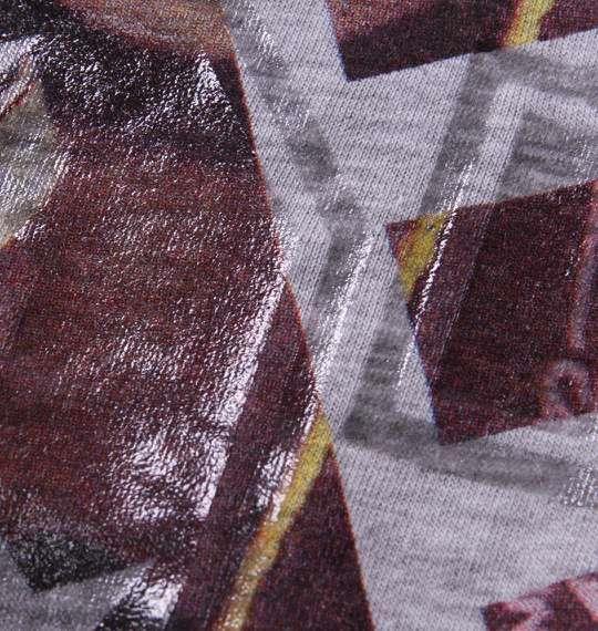 大きいサイズ メンズ RIMASTER 昇華転写 プリント 長袖 ラグラン Tシャツ 長袖Tシャツ モクグレー × チャコール 1158-5320-2 3L 4L 5L 6L 8L