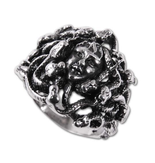 大きいサイズ メンズ ステンレス スティールリング 指輪 リング メドゥーサ 1160-5341-1 30 33