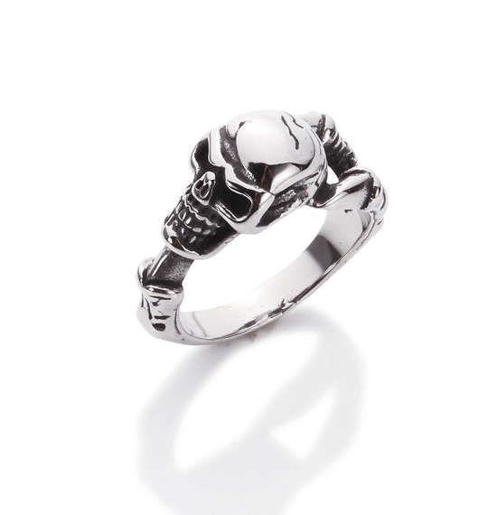 大きいサイズ メンズ ステンレス スティールリング 指輪 リング スカルボーン 1160-5341-2 30 33