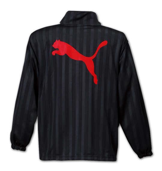 大きいサイズ メンズ PUMA トレーニングジャケット アウター ジャケット スポーツ ブラック × レッド 1176-5300-2 4XO 5XO 6XO 7XO