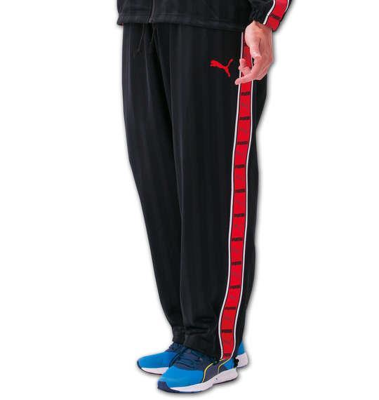 大きいサイズ メンズ PUMA トレーニングパンツ ボトムス ズボン パンツ スポーツ ブラック × レッド 1176-5301-2 4XO 5XO 6XO 7XO