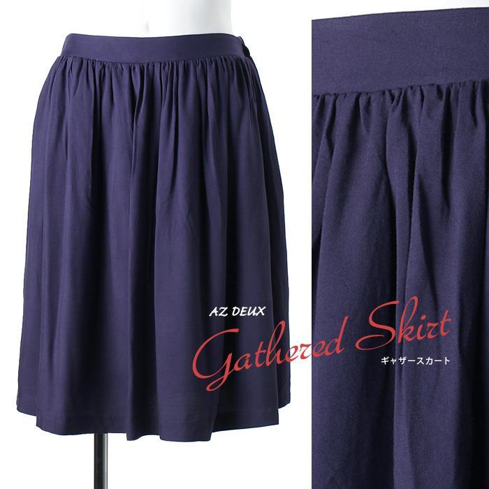 大きいサイズ レディース AZ DEUX ギャザー スカート azld-15lk02
