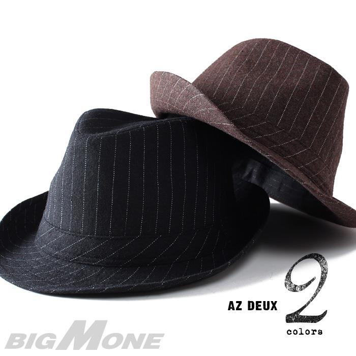 大きいサイズ メンズ 60~64cm AZ DEUX ストライプ 中折れ ハット 帽子 azcp-153