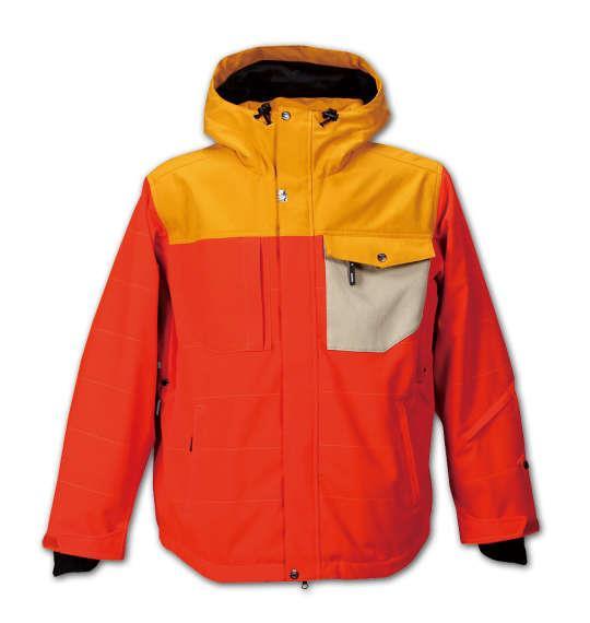 大きいサイズ メンズ nima スノボー ジャケット スノボーウェア オレンジ 1156-5312-2 3L 5L 7L