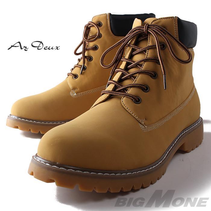 大きいサイズ メンズ AZ DEUX シューズ PU ヌバック 6インチ タイプ ブーツ azsn-159011