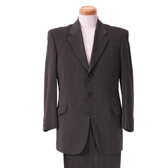 大きいサイズ メンズ シングル 3ツ釦 スーツ グレー 1122-5318-1 2L 2TL 3L 5L TLL
