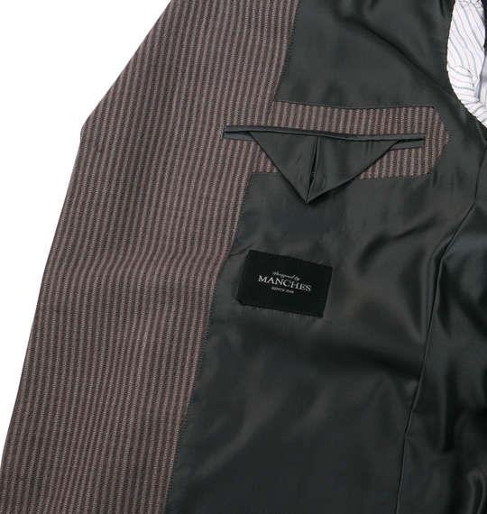 大きいサイズ メンズ シングル 3ツ釦 スーツ ブラウン 1122-5318-2 2L 2TL 3L 5L TLL