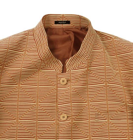 大きいサイズ メンズ マオカラー スーツ オレンジ 1122-5351-4 2L 3L 4L 5L