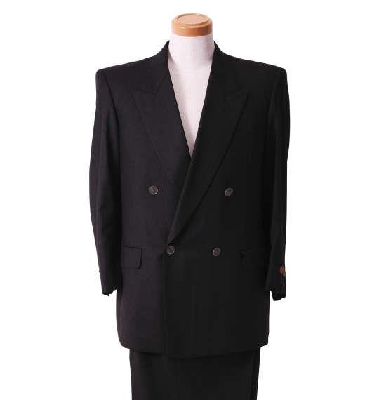大きいサイズ メンズ ダブル 4ツ釦 1ツ掛 スーツ チャコールグレー 1122-5356-1 2L 3L 5L