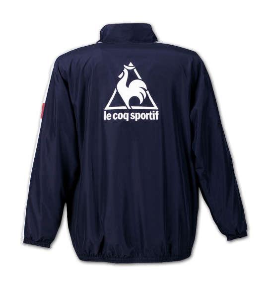 大きいサイズ メンズ LE COQ SPORTIF ウインドジャケット アウアー ジャンパー ジャケット ネイビー 1176-6150-1 3L 4L 5L 6L