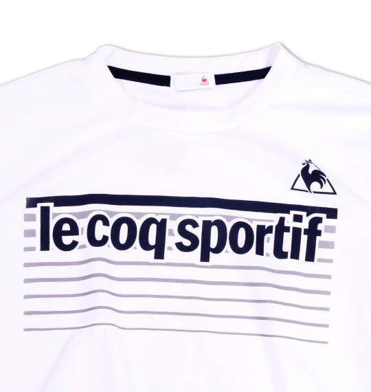 大きいサイズ メンズ LE COQ SPORTIF 半袖Tシャツ ホワイト 1178-6110-1 3L 4L 5L 6L