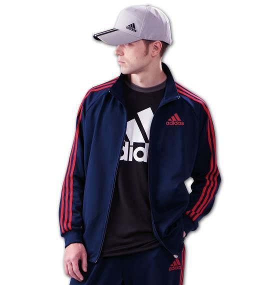 大きいサイズ メンズ adidas ウォームアップジャケット アウター ジャケット スポーツ ネイビー 1176-6100-1 3XO 4XO 5XO 6XO 7XO 8XO