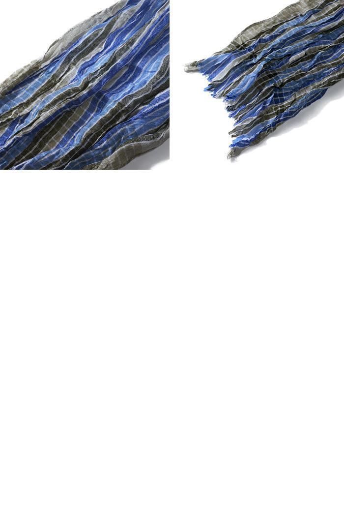 大きいサイズ メンズ スカーフ SARTORIA BELLINI チェック柄ロングストール azsc-045