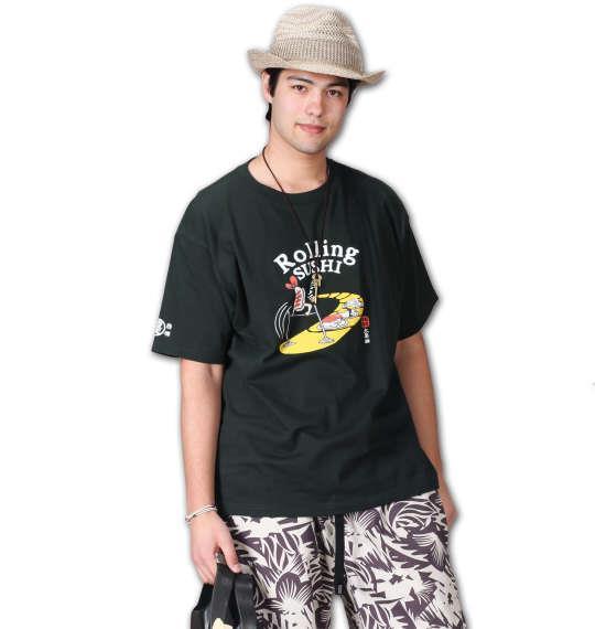 大きいサイズ メンズ 豊天 Rolling SUSHI 半袖 Tシャツ 半袖Tシャツ ダークグリーン 1158-6238-1 3L 4L 5L 6L
