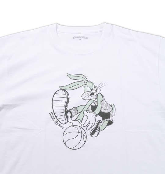 大きいサイズ メンズ LOONEY TUNES 半袖Tシャツ ホワイト 1178-6500-1 3L 4L 5L 6L