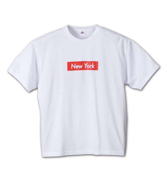 大きいサイズ メンズ Majestic 半袖Tシャツ ホワイト 1178-6510-1 3L 4L 5L 6L