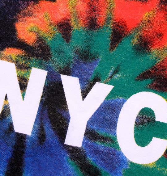 大きいサイズ メンズ SHELTY NYC タイダイ柄 プリント 半袖 Tシャツ 半袖Tシャツ ブラック 1158-6210-2 3L 4L 5L 6L
