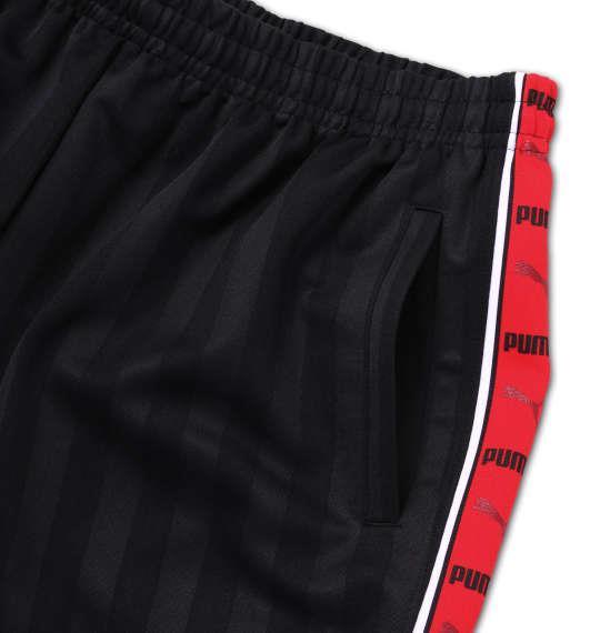 大きいサイズ メンズ PUMA トレーニング ハーフパンツ ボトムス ズボン パンツ 短パン ブラック × レッド 1176-6210-2 4XO 5XO 6XO 7XO