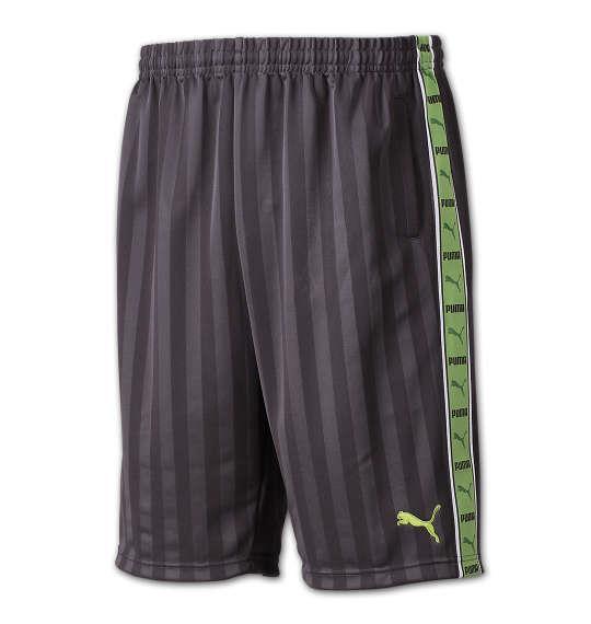 大きいサイズ メンズ PUMA トレーニング ハーフパンツ ボトムス ズボン パンツ 短パン チャコール × グリーン 1176-6210-3 4XO 5XO 6XO 7XO