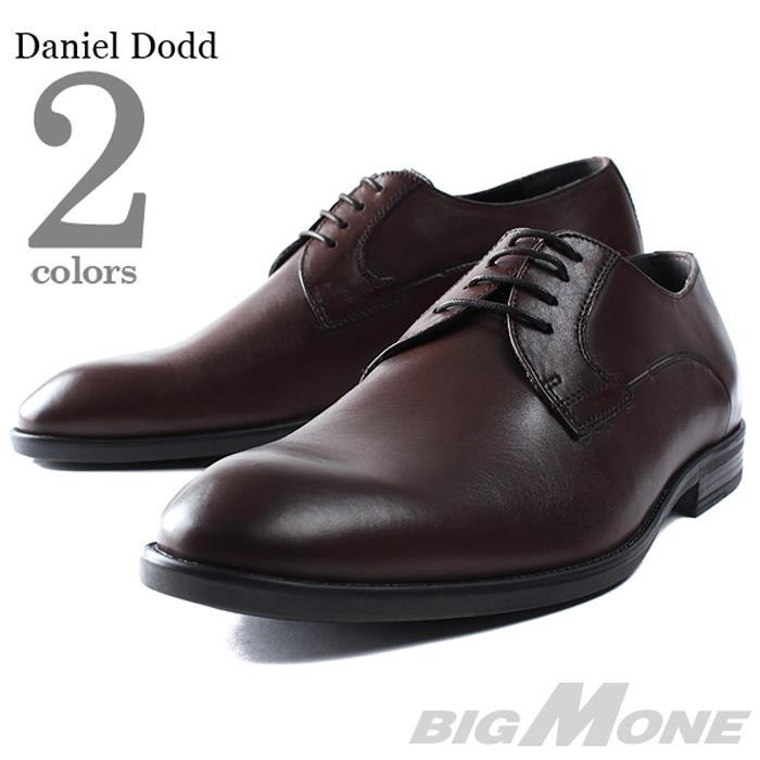 大きいサイズ メンズ DANIEL DODD 本革 プレーントゥ ビジネスシューズ azbs-169001