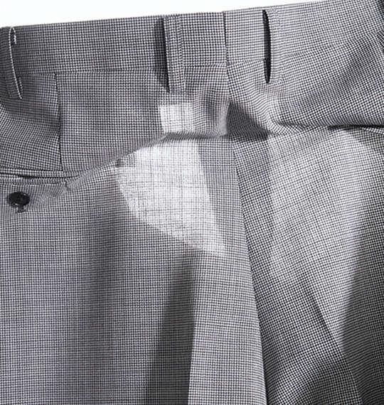 大きいサイズ メンズ 風通る スラックス ウエスト ストレッチ ツータック パンツ ビジネスパンツ ズボン ボトムス チドリ 1154-6201-1 100 105 110 115 120 130 140 150 160