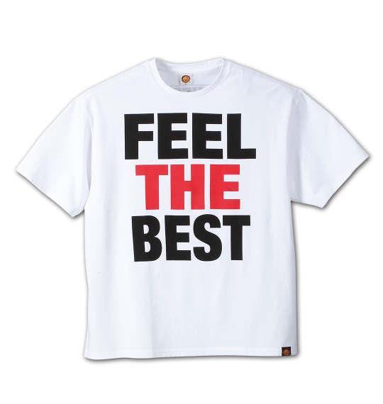 大きいサイズ メンズ 新日本プロレス 棚橋弘至「FEEL THE BEST」半袖Tシャツ ホワイト 1178-6540-1 3L 4L 5L 6L 8L