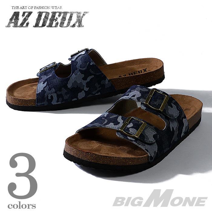 大きいサイズ メンズ AZ DEUX デニム2ストラップサンダル 491-160301