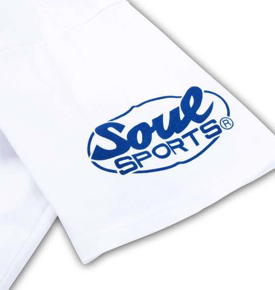 大きいサイズ メンズ SOUL SPORTS SOUL 4連ロゴ 半袖 Tシャツ 半袖Tシャツ ホワイト 1168-6260-1 3L 4L 5L 6L 8L
