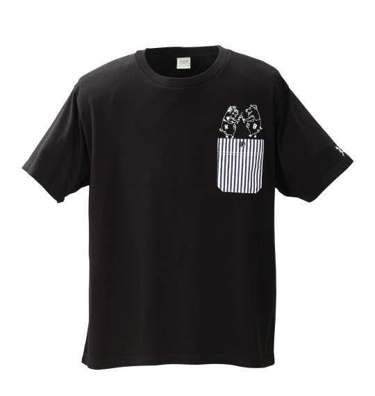 大きいサイズ メンズ kailua Bay ヒッコリー ポケット 半袖 Tシャツ 半袖Tシャツ ブラック 1158-6525-2 3L 4L 5L 6L