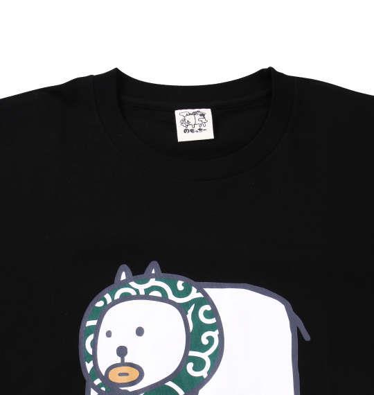 大きいサイズ メンズ わもっちー からくさ半袖Tシャツ ブラック 1178-6561-1 3L 4L 5L 6L