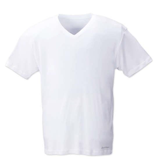大きいサイズ メンズ Phiten 半袖 Vネック Tシャツ 半袖Tシャツ ホワイト 1149-6220-1 3L 4L 5L 6L 8L