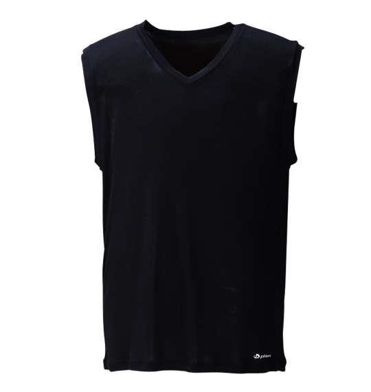 大きいサイズ メンズ Phiten Vネック スリーブレス インナー インナーシャツ 吸水速乾 ブラック 1149-6221-2 3L 4L 5L 6L 8L