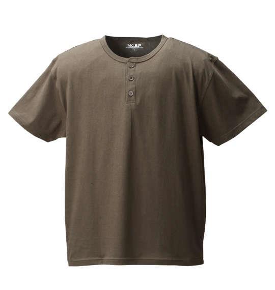 大きいサイズ メンズ Mc.S.P 半袖 クルーネック Tシャツ 半袖Tシャツ カーキ 1158-6591-4 3L 4L 5L 6L 8L 10L
