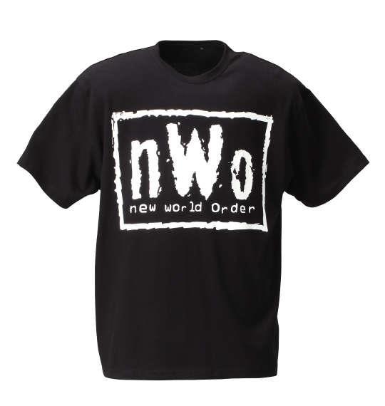 大きいサイズ メンズ W.W.E nWoロゴ半袖Tシャツ ブラック 1178-6310-1 3L 4L 5L 6L 8L