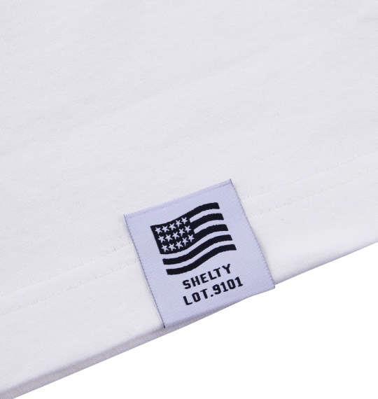 大きいサイズ メンズ SHELTY タイダイ BOX プリント 長袖 Tシャツ 長袖Tシャツ ホワイト 1158-6340-1 3L 4L 5L 6L
